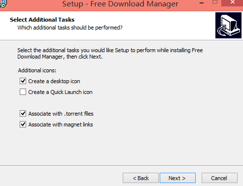 Free Download Manager 安装完成