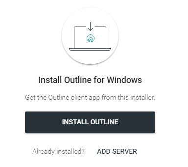 Outline 客户端引导下载界面