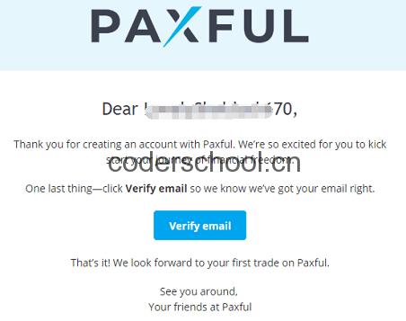 登录邮箱验证paxful账号